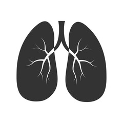 Lungs icon vector illustration eps10, simple design