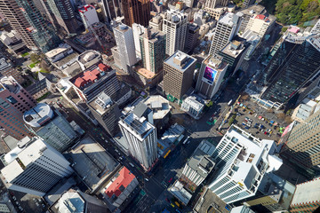 Panorama aerial view of Auckland New Zealand Wall mural