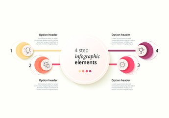 Colorful 4 Step Infographic
