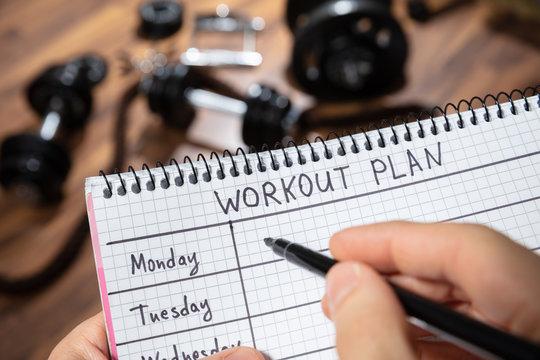 Human's Hand Writing Workout Plan