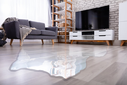 Flooded Floor In The Living Room