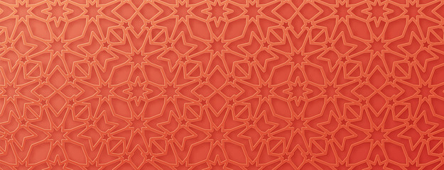 Arabic pattern background. Islamic ornament vector.