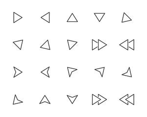 set of arrow icons