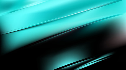 Wall Mural - Abstract Green and Black Diagonal Shiny Lines Background