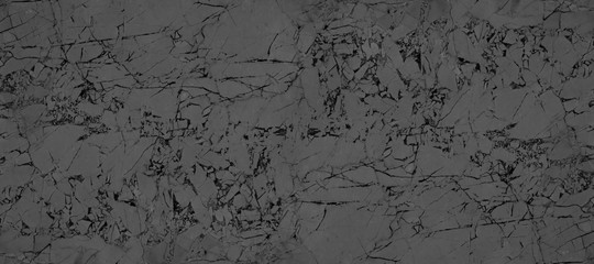 Wall Mural - Black and white marble panorama texture background. Dark black marble panoramic texture surface