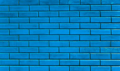 blue wainscot texture of the old wall