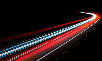lights of cars with night Wall mural