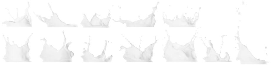 Milk splash isolated on white background