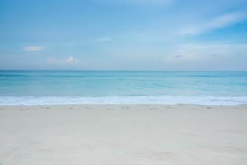 Wall Murals Beach blue wave on beach of Phuket Thailand