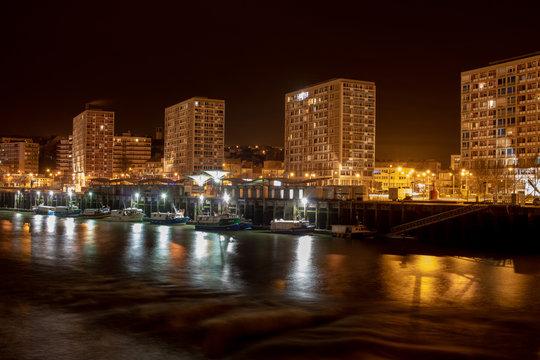 Port de Boulogne sur Mer de Nuit