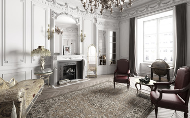 Victorian Apartment - 3d visualization