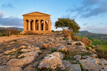 Temple of Concordia (Tempio della Concordia). Valle dei Templi (Valley of the Temples). Agrigento Sicily Italy