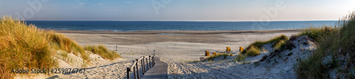 Wall mural Beach on the East Frisian Island Juist in the North Sea, Germany, in morning light.