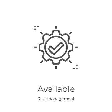 available icon vector from risk management collection. Thin line available outline icon vector illustration. Outline, thin line available icon for website design and mobile, app development