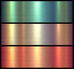 Metal textures shiny brushed metallic background