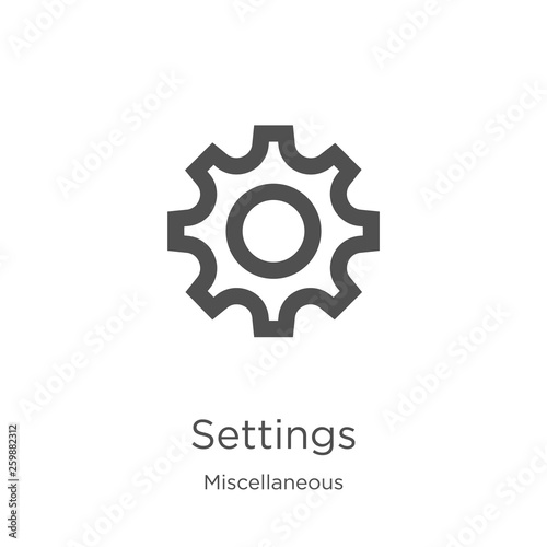 settings icon vector from miscellaneous collection  Thin line