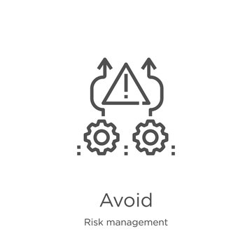 avoid icon vector from risk management collection. Thin line avoid outline icon vector illustration. Outline, thin line avoid icon for website design and mobile, app development