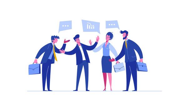 Business Person Negotiation Investment Portfolio