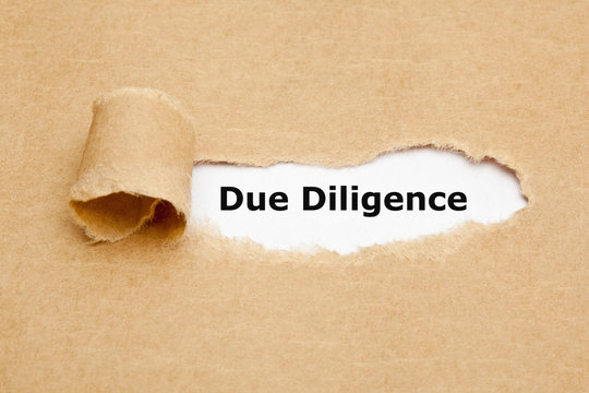 Due Diligence Risk Management Ripped Paper Concept