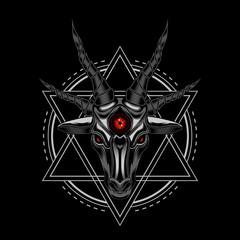 Sheep Devil vector illustration