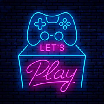 Let's play. Neon sign design