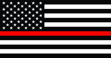 Thin Red Line American Fireman Flag