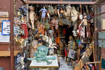 Naples Campania Italy. A junk dealer in Via Tribunali