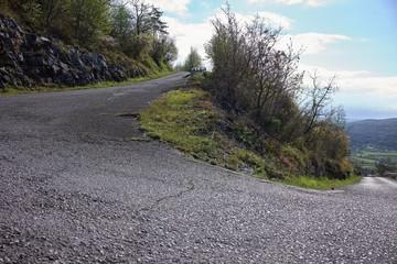 Step climbing road