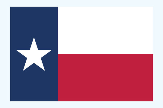 Texas flag vector.  Texas flag, United states of America. Flag of Texas is the second largest state of United States vector eps10.