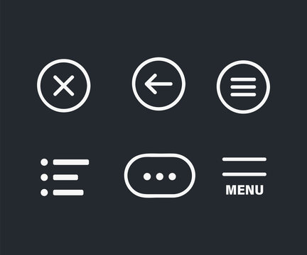 Ui menu icons. Set Hamburger Menu icon