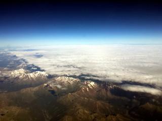 Foto op Plexiglas Zwart Desde el aire