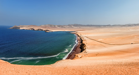 Paracas National Reserve, Ica Region, Pacific coast of Peru.