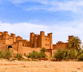 Canvas Prints Morocco Unesco heritage Ait Ben Haddou kasbah in Morocco. Tourist attraction