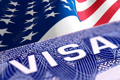 Visa passport traveling abroad concept, 3D rendering  A