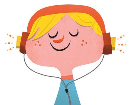 Tune In - Boy with Headphones