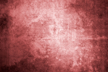 Red wall with concrete texture as a background