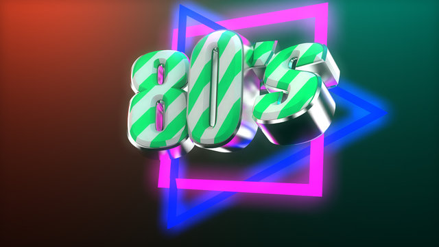 Retro graphic 80's