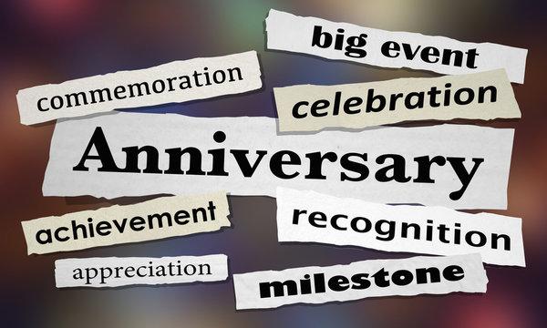 Anniversary Celebration Event News Headlines 3d Illustration.jpg