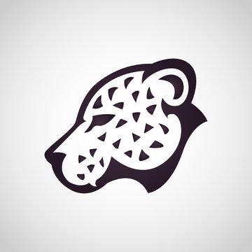 Leopard logo icon design, vector illustration