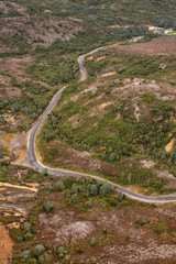 Aerial view of the Lyell Highway