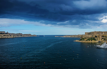 Storm over the Harbor in Malta