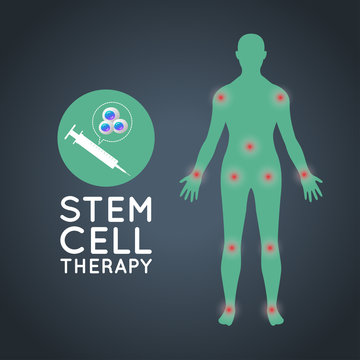 stem cell therapy logo icon design, medical vector illustration