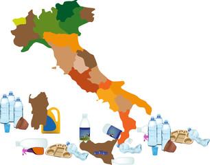emergenza Italia scarto di plastica