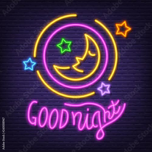 good night neon signboard