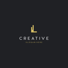 Letter L Building Creative Business Logo