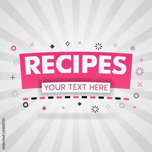 Pink logo for recipes websites  for recipe websites, food blog