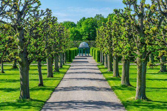 Gardens of Herrenhausen palace in Hannover, Germany