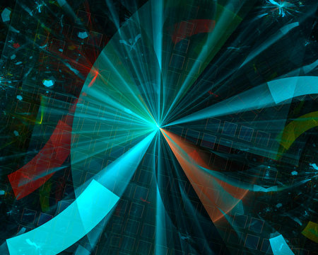 abstract digital fractal, fantasy design