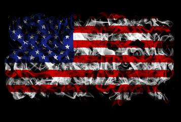 Smoking flag of the United States of America