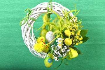 Obraz Wielkanocny wianek wiszący - fototapety do salonu